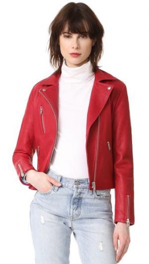 Байкерская куртка Reed Doma. Цвет: анемона