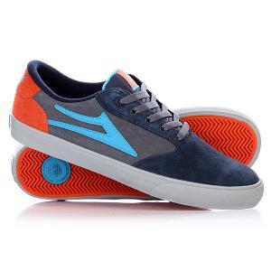 Кеды кроссовки низкие  Pico Suede Grey/Blue Lakai. Цвет: синий,серый