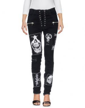 Джинсовые брюки BEN TAVERNITI™ UNRAVEL PROJECT. Цвет: черный