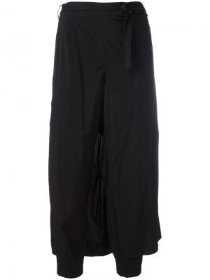 Укороченные брюки Kolor. Цвет: чёрный