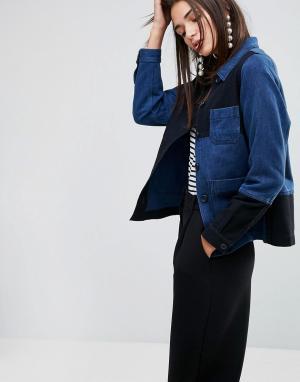 YMC Куртка. Цвет: темно-синий