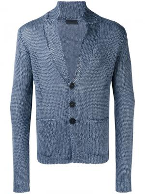 Кардиган с накладными карманами Iris Von Arnim. Цвет: синий