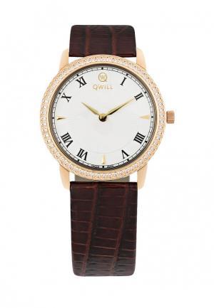 Часы Qwill. Цвет: коричневый