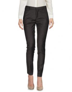 Повседневные брюки ELEVENTY. Цвет: темно-коричневый