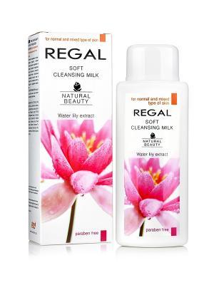 Нежное очищающее молочко для нормального и комбинированного типа кожи REGAL NATURAL BEAUTY 200мл. Цвет: зеленый