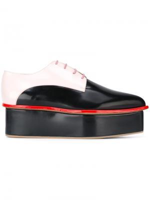 Туфли со шнуровкой дизайна колор-блок Delpozo. Цвет: чёрный