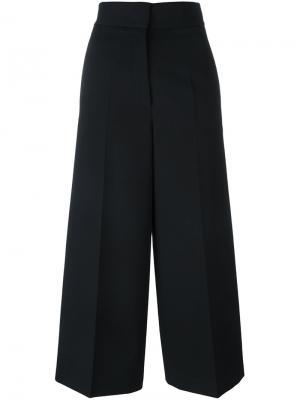Расклешенные брюки с высокой талией Jil Sander. Цвет: чёрный