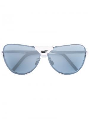 Солнцезащитные очки-авиаторы Porsche Design. Цвет: синий
