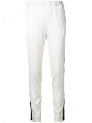 Спортивные брюки с контрастными полосками 08Sircus. Цвет: белый