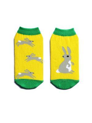 Носки укороченные Big Bang Socks. Цвет: желтый