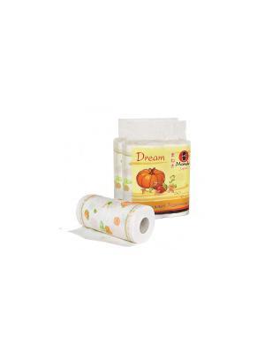 Полотенца кухонные бумажные двухслойные с рисунком и тиснением, 60 листов, 2 рул./уп х шт, KT166/1 Maneki. Цвет: белый