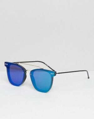Spitfire Солнцезащитные очки с двойной переносицей и зеркальными плоскими стекл. Цвет: зеленый