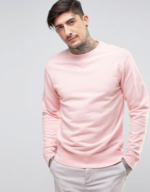 Edwin Классический свитер с круглым вырезом. Цвет: розовый