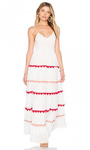 Макси платье marieta Carolina K. Цвет: белый