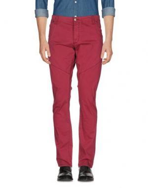 Повседневные брюки YES ZEE by ESSENZA. Цвет: пурпурный