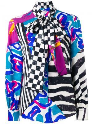 Лоскутная блузка с бантом Marc Jacobs. Цвет: многоцветный