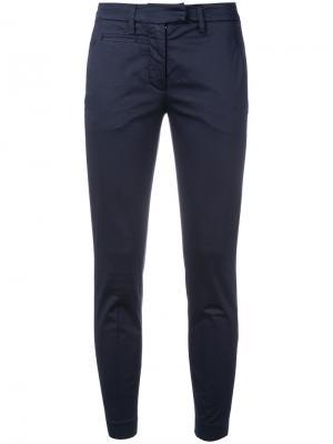 Узкие брюки Dondup. Цвет: синий