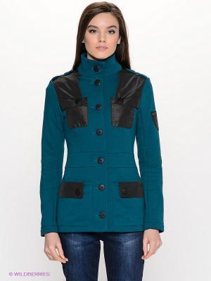 Куртка DOCTOR E. Цвет: зеленый, черный
