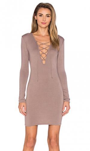Платье elsa De Lacy. Цвет: серо-коричневый