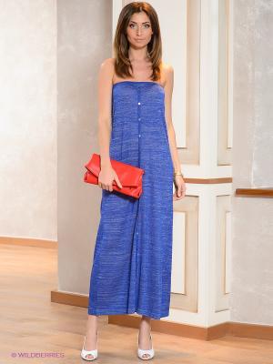 Платье O De Mai. Цвет: синий