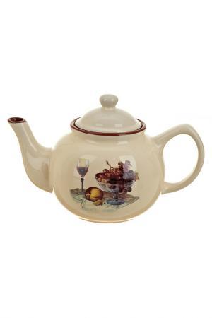 Чайник заварочный, 1500 мл ENS. Цвет: бежевый, коричневый