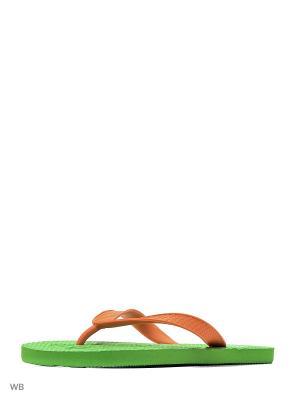 Шлепанцы Effa. Цвет: зеленый, красный
