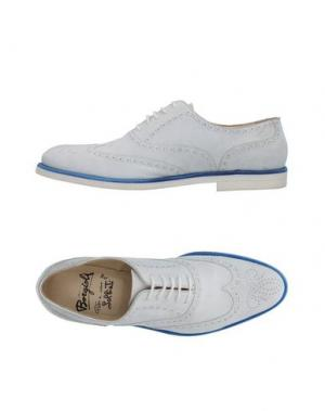 Обувь на шнурках BORGIOLI. Цвет: белый