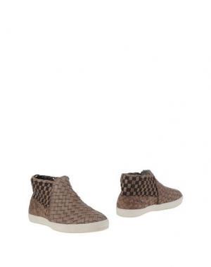 Полусапоги и высокие ботинки CESARE P.. Цвет: голубиный серый