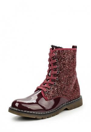 Ботинки Fullstop. Цвет: бордовый