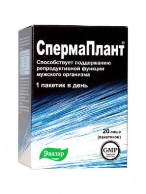 Спермаплант, саше №20 по 3,5 г Эвалар. Цвет: белый