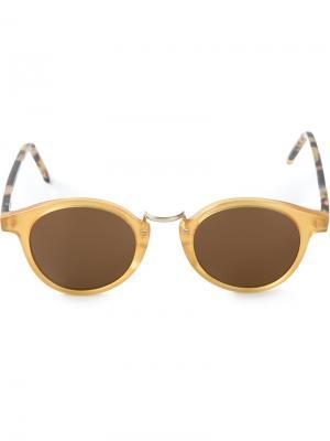 Солнцезащитные очки Frank Kyme. Цвет: жёлтый и оранжевый