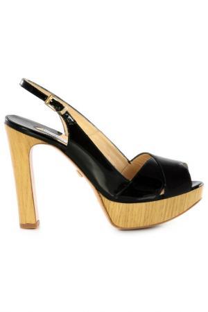 Босоножки на каблуках Luciano Padovan. Цвет: черный