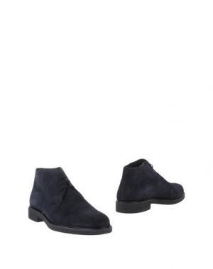 Полусапоги и высокие ботинки BRAWN'S. Цвет: темно-синий