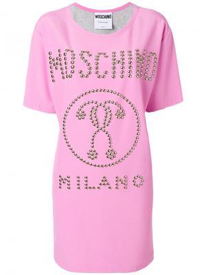 Question mark dress Moschino. Цвет: розовый и фиолетовый
