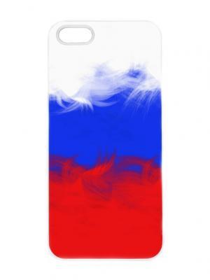 Чехол для iPhone 5/5s Флаг и перья Chocopony. Цвет: красный, синий