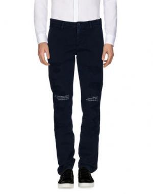Повседневные брюки OFF WHITE c/o VIRGIL ABLOH. Цвет: грифельно-синий