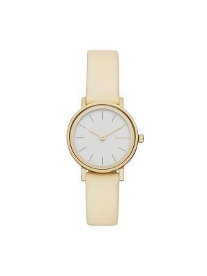 Часы SKAGEN. Цвет: белый, светло-бежевый, золотистый, желтый