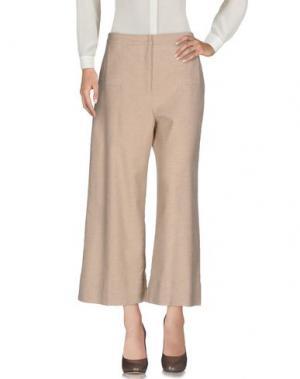 Повседневные брюки ROBERTO COLLINA. Цвет: бежевый