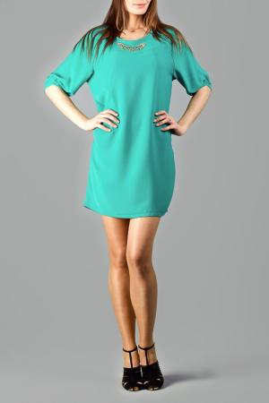 Платье CLAUDIA MILLEN. Цвет: зеленый