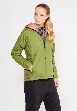 Куртка утепленная adidas Performance. Цвет: зеленый