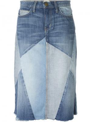 Джинсовая юбка Current/Elliott. Цвет: синий