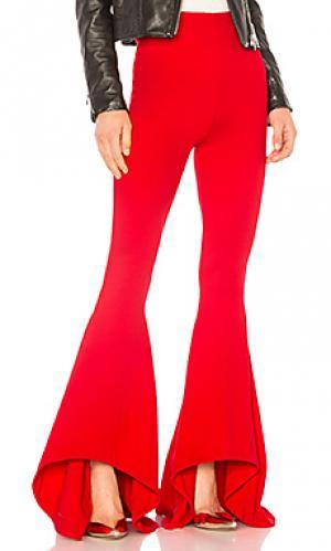 Расклешенные брюки shirley NBD. Цвет: красный