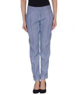 Повседневные брюки METRADAMO. Цвет: грифельно-синий