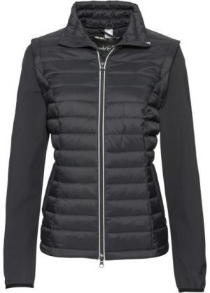 Куртка с жилеткой 2 в 1 (черный) bonprix. Цвет: черный