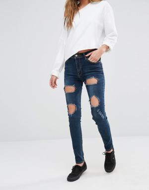 Good Vibes, Bad Daze Рваные джинсы скинни Vibes