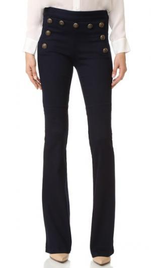Широкие джинсы Tide в матросском стиле Veronica Beard. Цвет: голубой