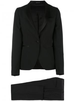 Slim shawl collar suit Tagliatore. Цвет: чёрный