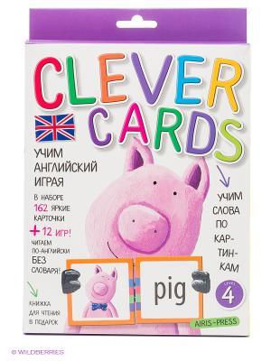 Учим английский играя. Уровень 4. Набор карточек АЙРИС-пресс. Цвет: белый, фиолетовый