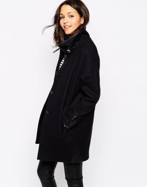Sessun Темно-синее пальто Nini. Цвет: темно-синий