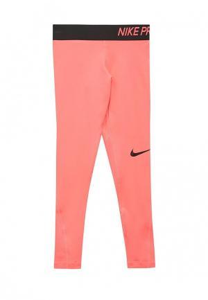Тайтсы Nike. Цвет: розовый